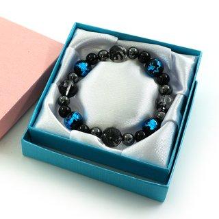 ギフトボックス ブレスレット ケース プレゼント ラッピング ブルー ピンク【CCA0021】