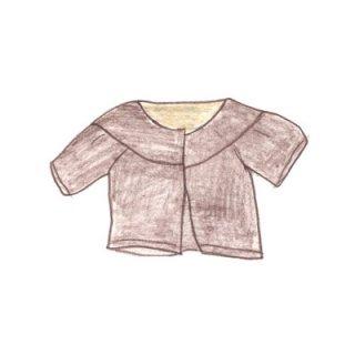 麻のジャケット(あずき色)