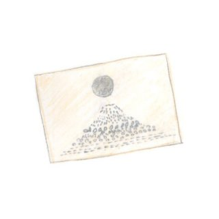 ポストカード fuji銀月