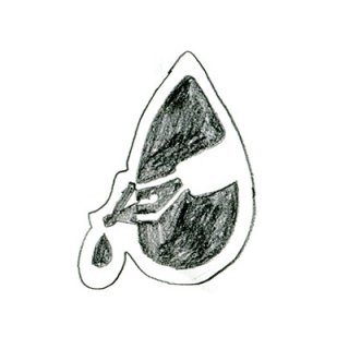 木版画文香「ペン先」