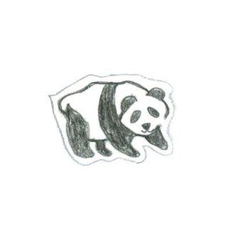 木版画文香「ぱんだ」