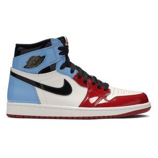 NIKE AIR JORDAN 1 RETRO HIGH OG FEARLESS UNC CHICAGO WHITE/BLACK-UNIVERSITY BLUE-VARSITY RED