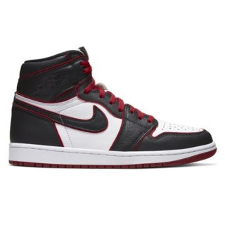 NIKE AIR JORDAN 1 RETRO HIGH OG BLOODLINE BLACK GYM RED WHITE