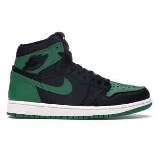 NIKE AIR JORDAN 1 RETRO OG BLACK/PINE GREEN-WHITE-GYM RED