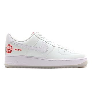 NIKE AIR FORCE 1 LOW I BELIEVE DARUMA 2021 WHITE WHITE