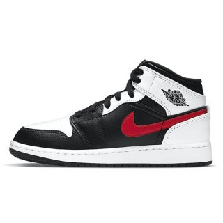 予約】NIKE AIR JORDAN 1 MID GS BLACK CHILE RED WHITE