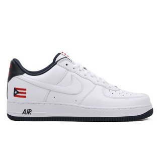 NIKE AIR FORCE 1 LOW RETRO PUERTO RICO TRUE WHITE/OBSIDIAN/COMET RED