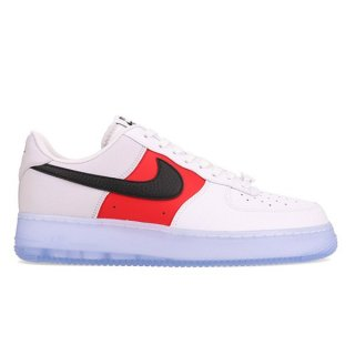 NIKE AIR FORCE 1 '07 LV8 EMB WHITE RED BLACK