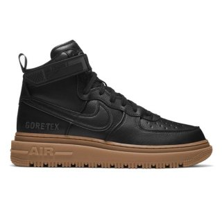 NIKE AIR FORCE 1 GORE-TEX BOOT BLACK BLACK GUM LIGHT BROWN