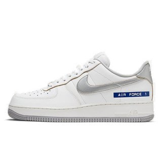 NIKE AIR FORCE 1 LOW 07 LV8 LABEL MAKER WHITE/METALLIC SILVER-SAIL/CHUTNEY/BLACK/TEAM ROYAL