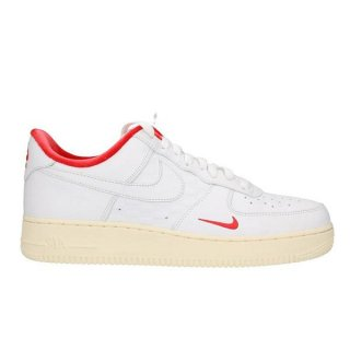 NIKE AIR FORCE 1 KITH WHITE WHITE UNIVERSITY RED