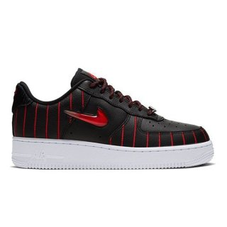 NIKE WMNS AIR FORCE 1 JEWEL BLACK/UNIVERSITY RED-BLACK-WHITE