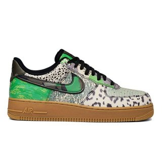 NIKE AIR FORCE 1 QS CITY OF DREAM BLACK BLACK GREEN