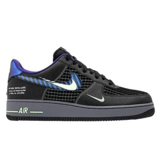 NIKE AIR FORCE 1 LOW FUTURE SWOOSH ANTHRACITE COURT PURPLE VAPOR GREEN