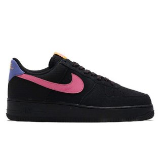 NIKE AIR FORCE 1 '07 LV8 2 BLACK/MAGIC FLAMINGO-PERSIAN VIOLET