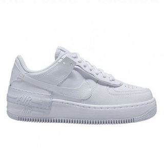 NIKE WOMEN AIR FORCE 1 SHADOW WHITE WHITE WHITE