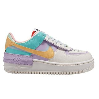 NIKE WOMEN AIR FORCE 1 SHADOW PALE IVORY/CELESTIAL GOLD-TROPICAL TWIST