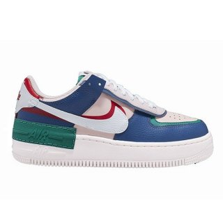 NIKE WOMEN AIR FORCE 1 SHADOW MYSTIC NAVY WHITE ECHO PINK GYMRED