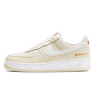 NIKE AIR FORCE 1 '07 PRM EMB POPCORN WHITE COCONUT MILK