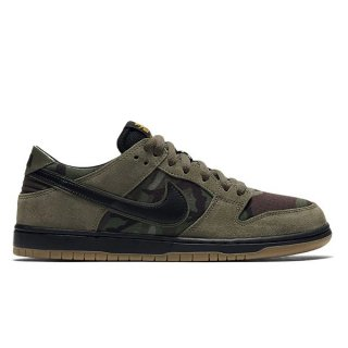 NIKE SB ZOOM DUNK LOW PRO MEDIUM OLIVE/BLACK-GUM LIGHT BROWN