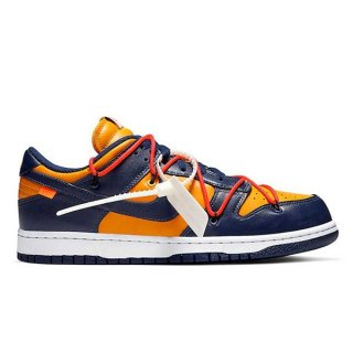 NIKE DUNK LOW x OFF WHITE UNIVERSITY GOLD/MIDNIGHT NAVY