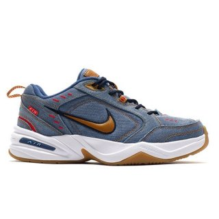 NIKE AIR MONARCH IV PRM FATHER'S DAY COLLEGE NAVY/ WHEAT-DECEMBER SKY