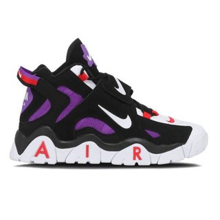 NIKE AIR BARRAGE MID QS BLACK/BLACK/CYBER/FIR