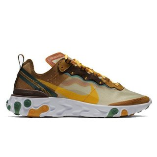 【定価17600円→11000円】 NIKE REACT ELEMENT 87 PALE IVORY/ORNG PL-PL IVRY-FR【価格修正】