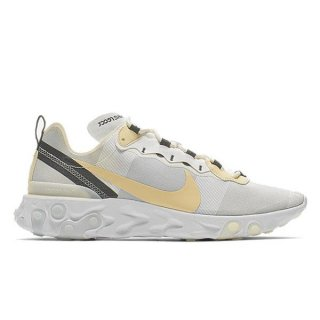 NIKE REACT ELEMENT 55 WHITE PALE VANILLA BLACK PALE IVORY