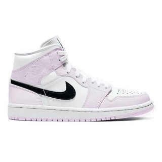 NIKE WMNS AIR JORDAN 1 MID BARELY ROSE/WHITE-BLACK