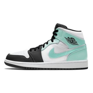 【予約】NIKE AIR JORDAN 1 MID WHITE/TROPICAL TWIST-BLACK