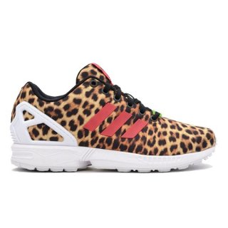 ADIDAS ORIGINALS WMNS ZX FLUX ANIMAL BLACK/VIVID BERRY/RUNNING WHITE