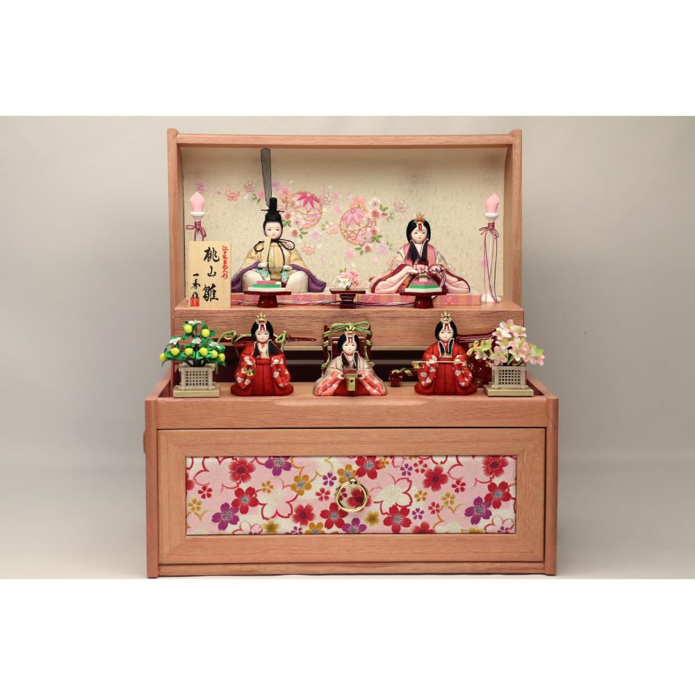 【木目込人形五人飾り】桃山雛 宝箱■木村一秀作