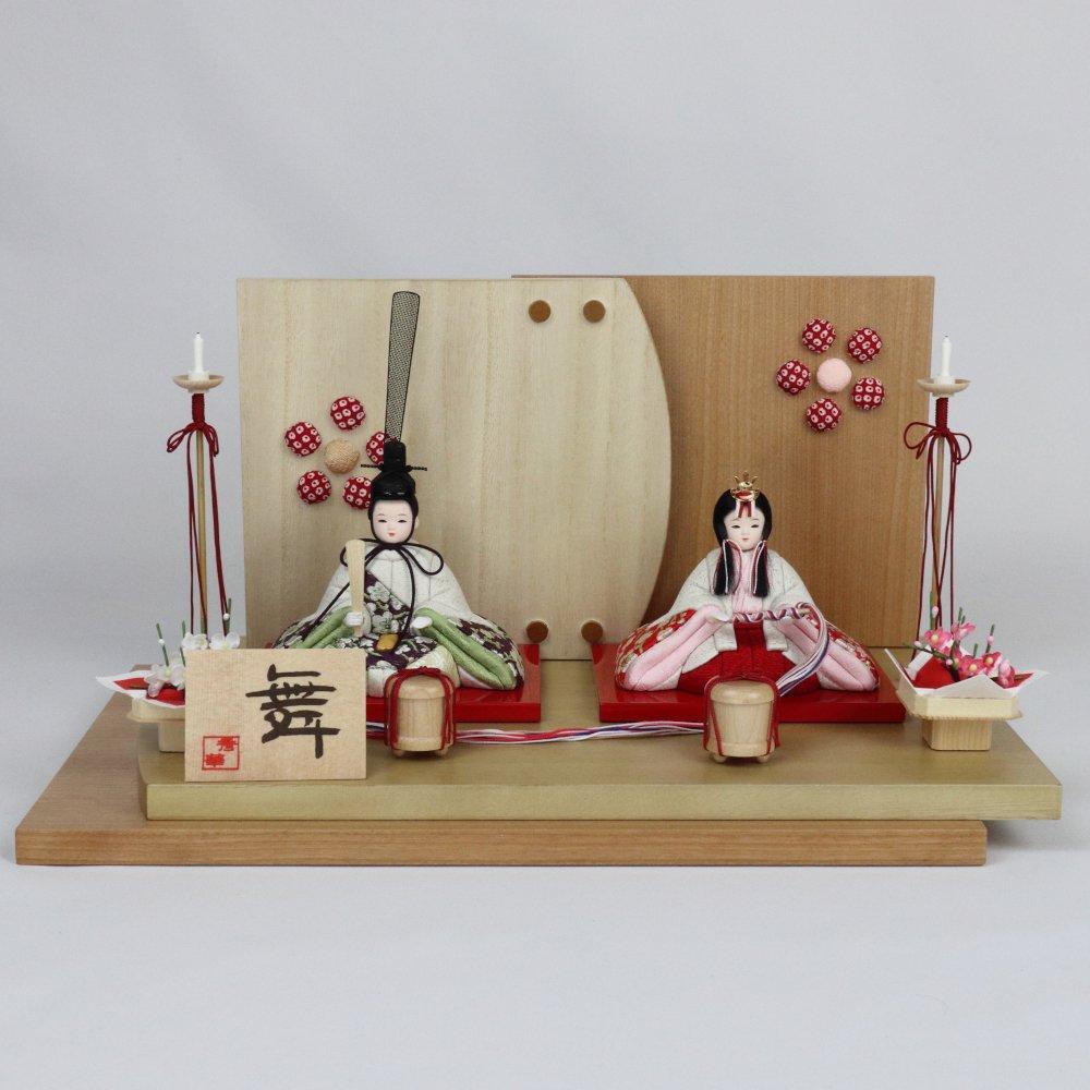 【木目込人形親王飾り】舞・結梅■木村一秀作