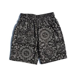 COOKMAN 「Chef Short Pants-Paisley Black - ショートパンツ」