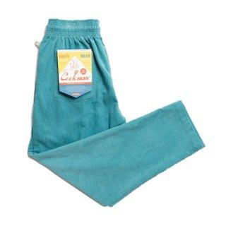 COOKMAN 「Chef Pants-Corduroy Turquoise Blue - シェフパンツ」