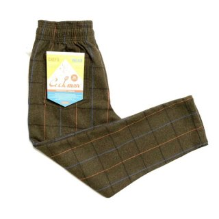 COOKMAN 「Chef Pants-Wool Mix Check - シェフパンツ」