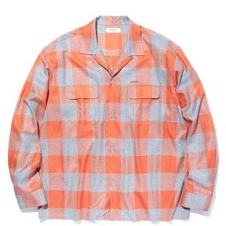 RADIALL 「LONG BEACH - OPEN COLLARED SHIRT L/S - レーヨンチェックシャツ」