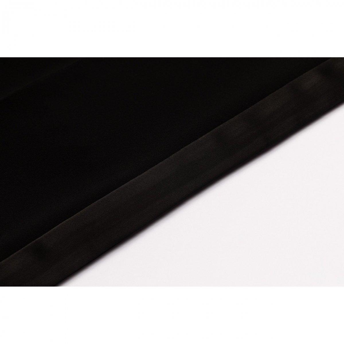 サイド切り替えストレートパンツ(ブラック)