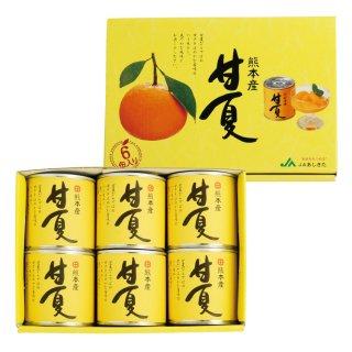 JAあしきた 甘夏缶詰(6缶入)【産地直送】