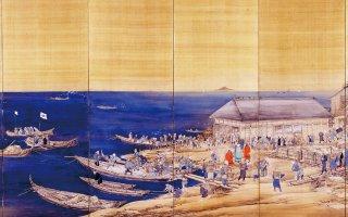 ニシン漁の繁栄ぶりを描いた「鰊盛業屏風」