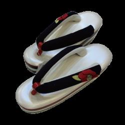 椿刺繍草履