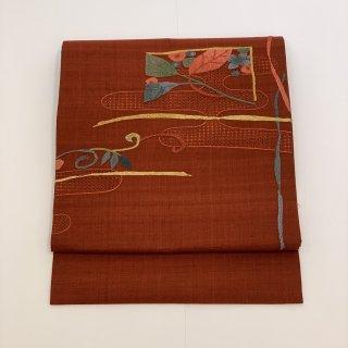 名古屋帯 汕頭刺繍 相良刺繍 中国刺繍
