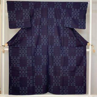 藍染紬 胴抜き 伝統工芸品