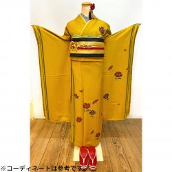 振袖 芥子 モード系 インスタ掲載コーデ