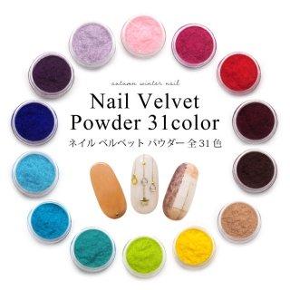 ネイル ベルベット パウダー 全31カラー 素材 各種