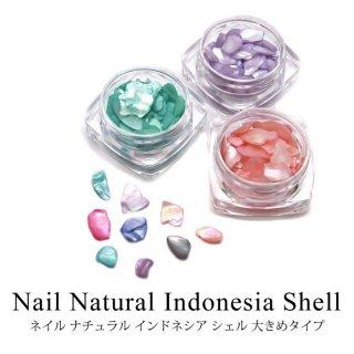 ネイル ナチュラル インドネシア シェル 大きめタイプ 全7色