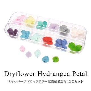 ネイル パーツ ドライフラワー 紫陽花 花びら 12色セット
