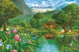 恋人たちの庭園(隠し絵シリーズ)