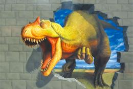 アロサウルス(3Dポストカード )